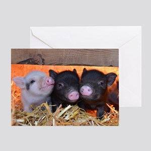 Three Little Piggies Greeting Card