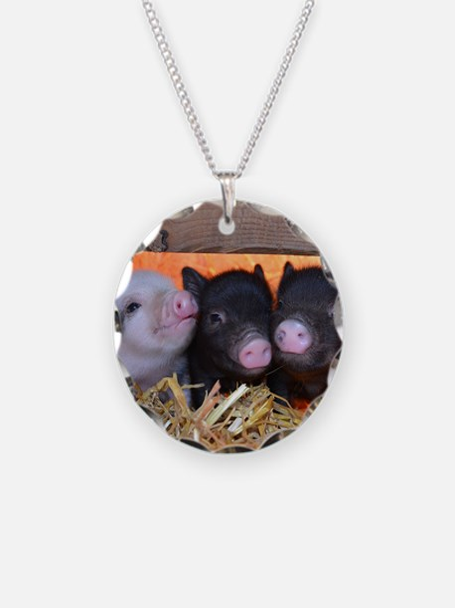 Three Little Piggies Necklace