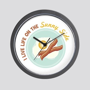 I LIVE LIFE ON THE Sunny Side Wall Clock