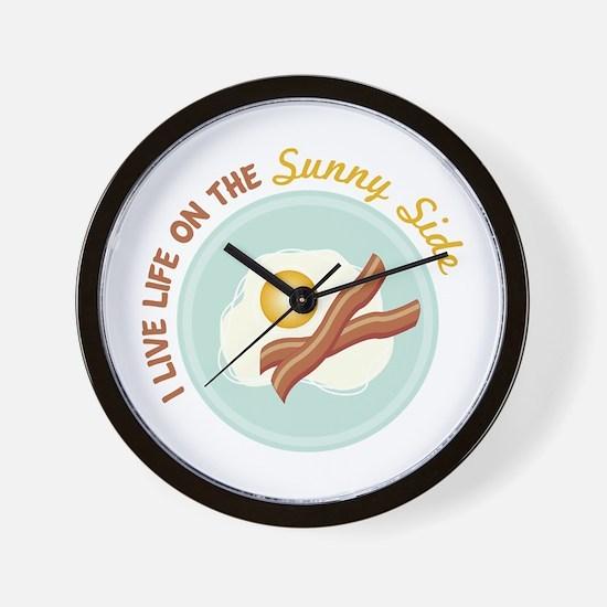I LIVE LIFE ON THE Sunny Side Wall Clock