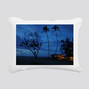 Maui beach sunset Rectangular Canvas Pillow