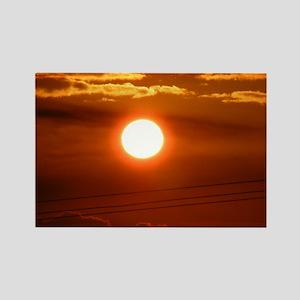 Maui - Mahalo Maui - Sun Set Rectangle Magnet