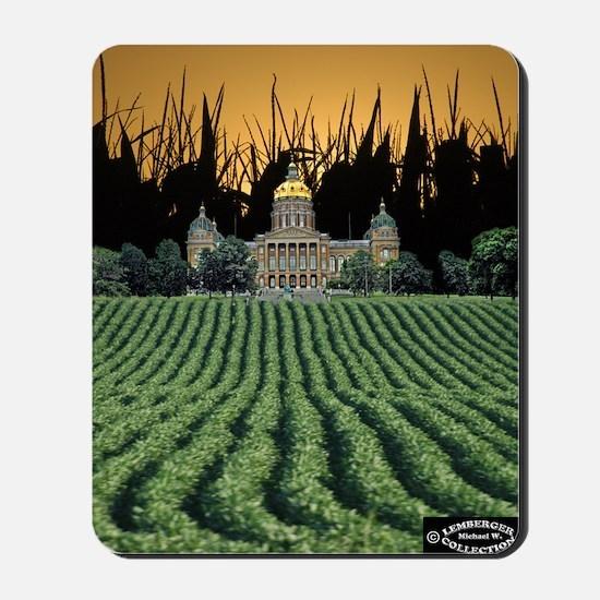 Iowa Capital among Corn  Soybeans Mousepad