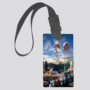 Pope John Paul II  Mass in the H Large Luggage Tag