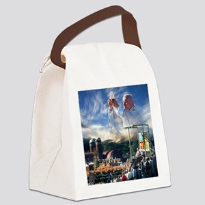Pope John Paul II  Mass in the He Canvas Lunch Bag