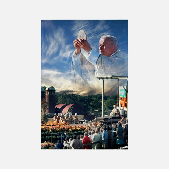 Pope John Paul II  Mass in the He Rectangle Magnet