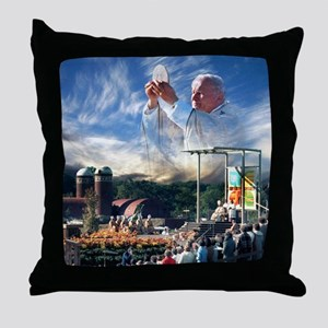 Pope John Paul II  Mass in the Heartl Throw Pillow