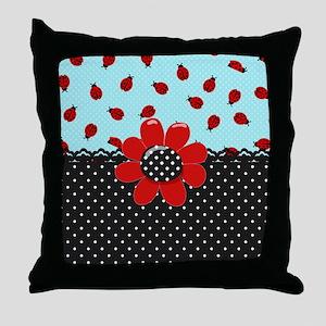 Ladybug Bliss Throw Pillow