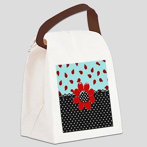 Ladybug Bliss Canvas Lunch Bag