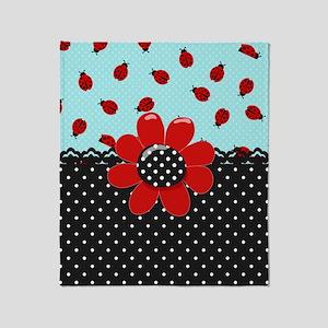 Ladybug Bliss Throw Blanket