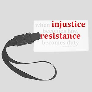 Injustice Resistance Large Luggage Tag