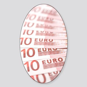 10 Euros Sticker (Oval)