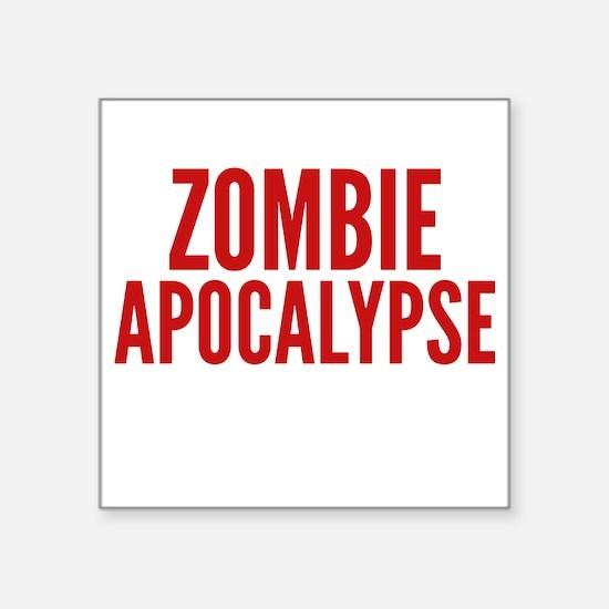 "ZombieApHard1E Square Sticker 3"" x 3"""