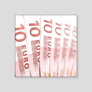 """10 Euros Square Sticker 3"""" x 3"""""""