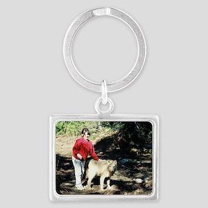 """""""Wolfgirl  and  Waka Landscape Keychain"""