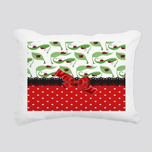 Ladybug Connection Rectangular Canvas Pillow
