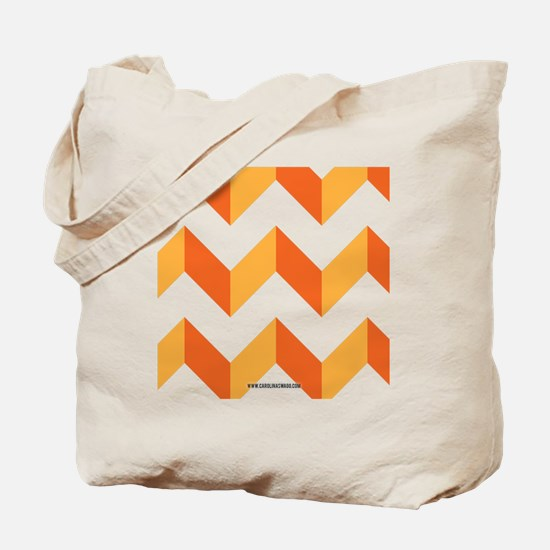 Chevron Orange Zig Zag Tote Bag
