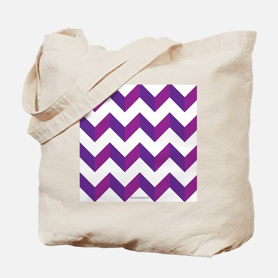 Chevron Purple Zig Zag Tote Bag