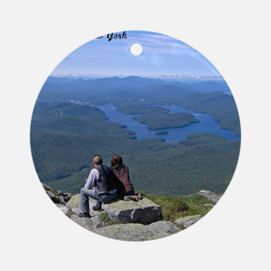 View of Lake Placid Round Ornament