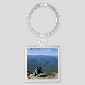 View of Lake Placid Square Keychain