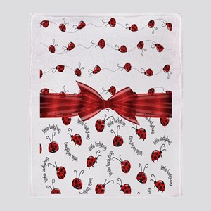 Perfect Little Ladybugs Throw Blanket