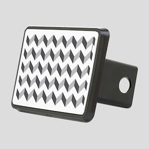 Chevron Grey Zig Zag Rectangular Hitch Cover