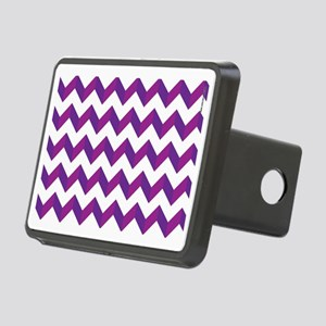 Chevron Purple Zig Zag Rectangular Hitch Cover