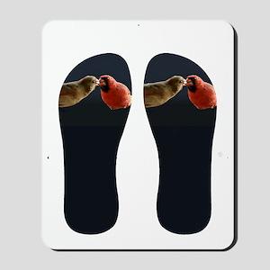 Cardinal flip flops Mousepad
