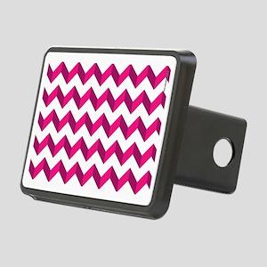 Chevron Pink Zag Zag Rectangular Hitch Cover