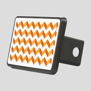 Chevron Orange Zig Zag Rectangular Hitch Cover
