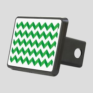 Chevron Green Zig Zag Rectangular Hitch Cover