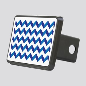 Chevron Blue Zig Zag Rectangular Hitch Cover