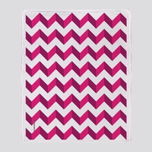 Chevron Pink Zag Zag Throw Blanket