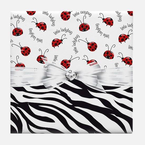 Ladybug Wild Side Tile Coaster
