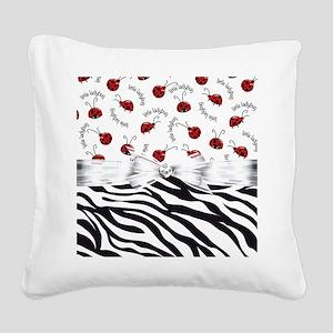 Ladybug Wild Side Square Canvas Pillow