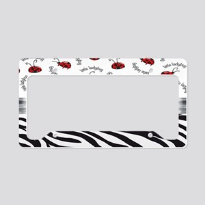 Ladybug Wild Side License Plate Holder