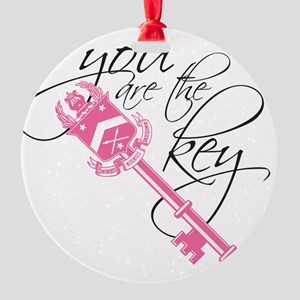 You Are the Key Round Ornament