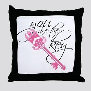 You Are the Key Throw Pillow