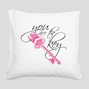 You Are the Key Square Canvas Pillow
