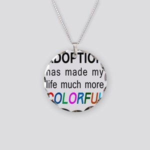 colorful big Necklace Circle Charm
