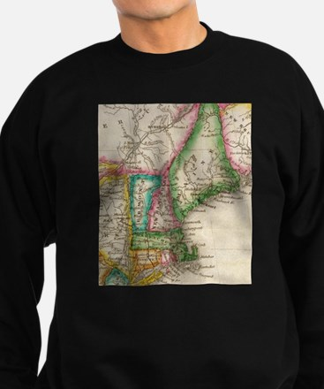Vintage Map of New England (1822) Sweatshirt