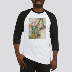 Vintage Map of New England (1822) Baseball Jersey