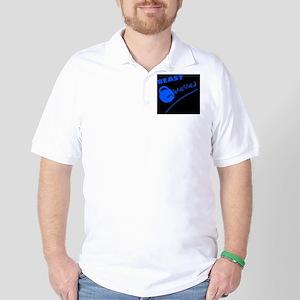 Beast Obsessed Blue Golf Shirt