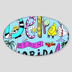 Design #31 Delray Beach Sticker (Oval)