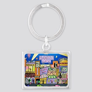 Design #32 SOuth Beach Miami Ni Landscape Keychain