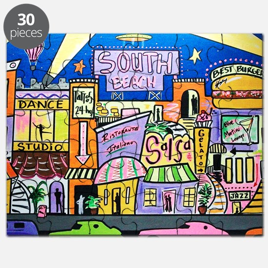 Design #32 SOuth Beach Miami Nightlife Puzzle