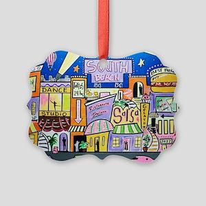 Design #32 SOuth Beach Miami Nigh Picture Ornament