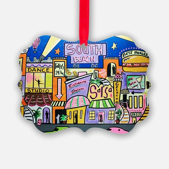 Design #32 SOuth Beach Miami Nigh Ornament