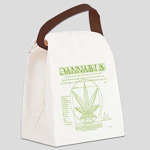 Vitruvian Grass Canvas Lunch Bag