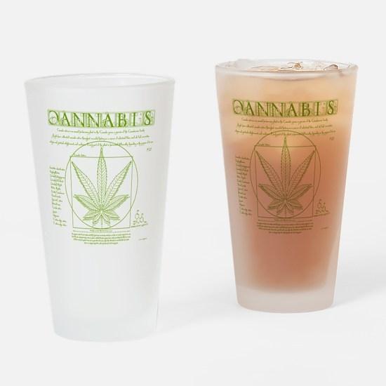 Vitruvian Grass Drinking Glass